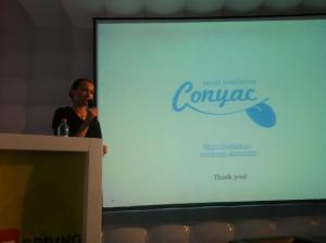 Taking Social Translation to Europe: Conyac at ICT Spring Luxembourg